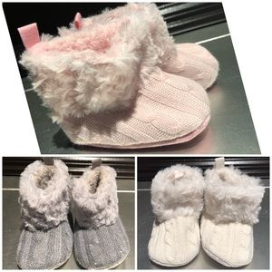 Other - Brand New Lot of 3 Furry Crib Boots